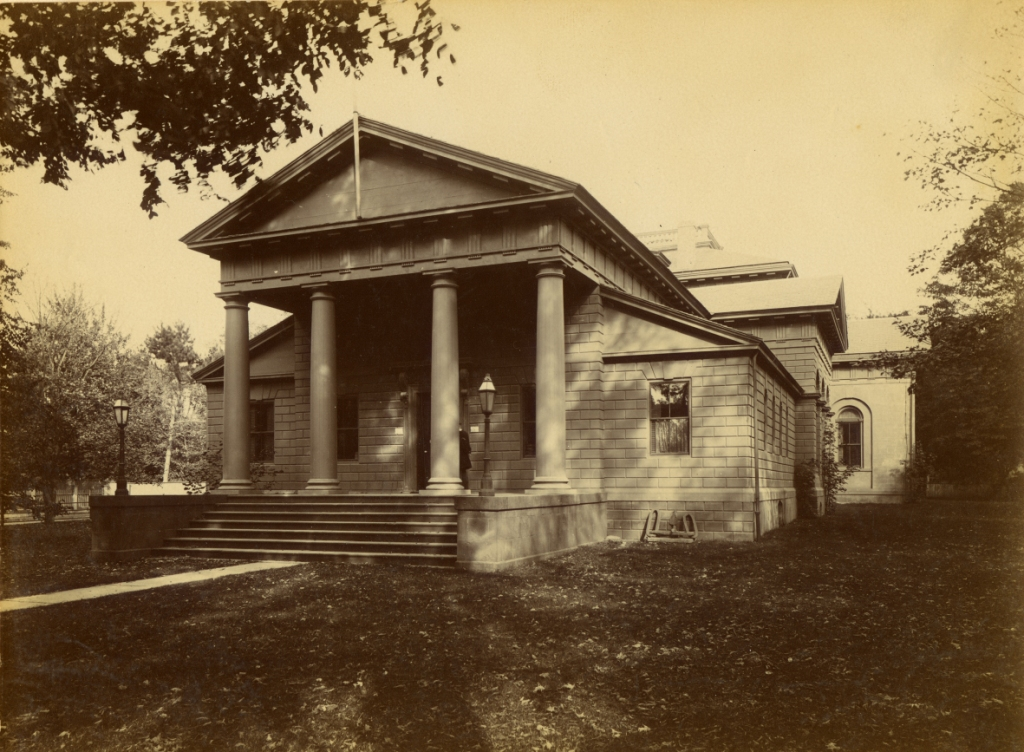 The Redwood Library, image from the Newport Historical Society's collections